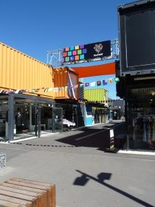 Vibrant pop up shops